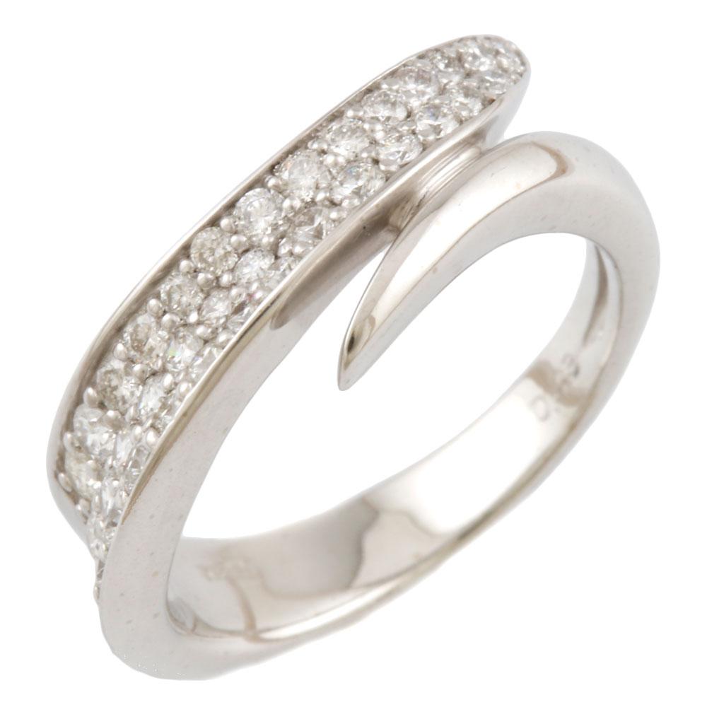K18WG リング 18金 ホワイトゴールド 指輪 アクセサリー メレダイヤ