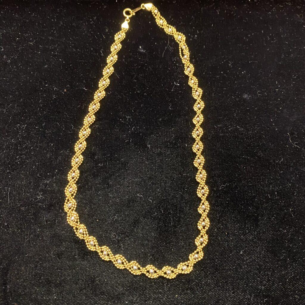 プラチナ850 18金 ネックレス