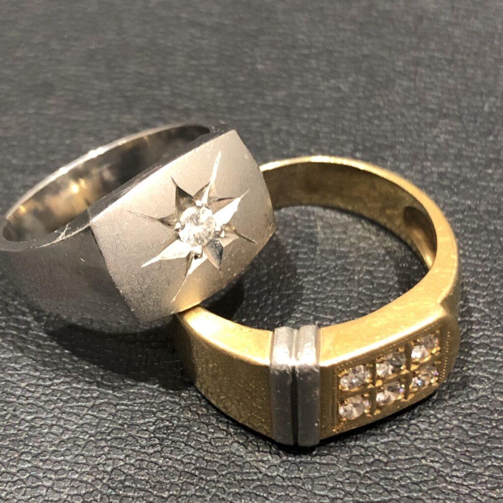 K18/Pt900 ダイヤモンド リング