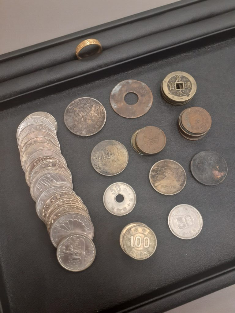 K18リング  古銭
