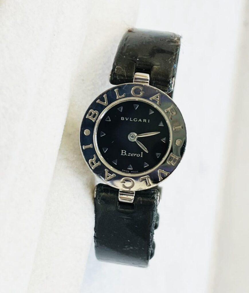 ブルガリ  B.zero1 腕時計 クォーツ レザーベルト レディース