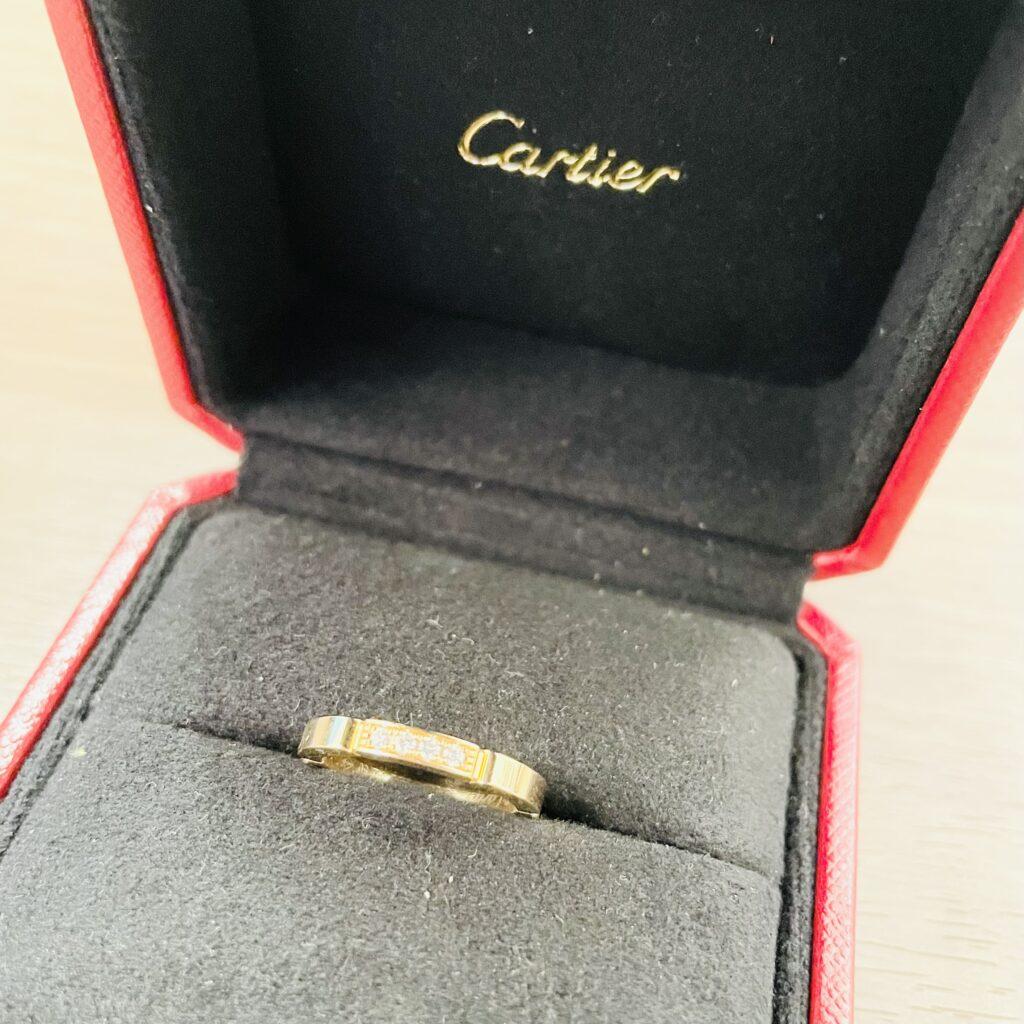 カルティエ リング 750 4Pダイヤ