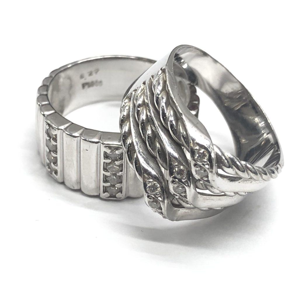 プラチナ900 リング メレダイヤモンド