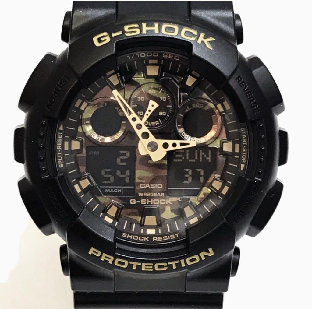 G‐SHOCK GA‐100CF Gショック アナデジ 迷彩柄 カモフラージュ 200m防水 腕時計
