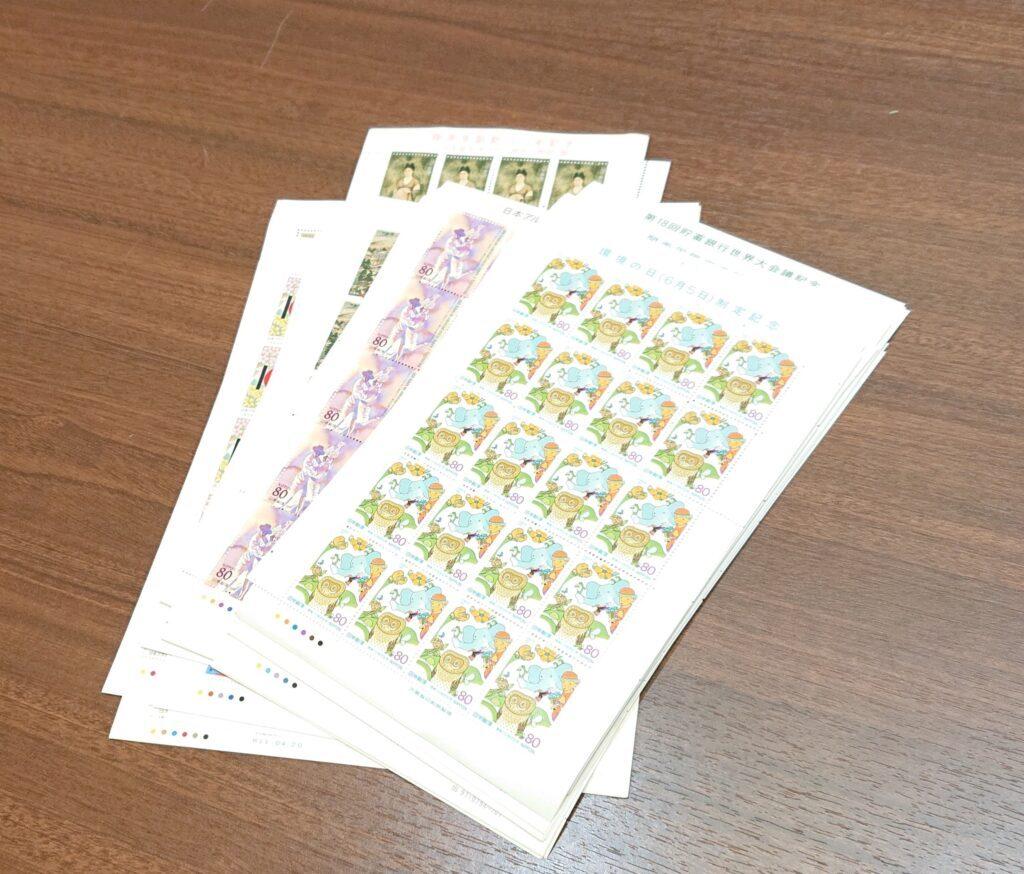 切手 20枚 シート 80円 15円 40円 郵便 コレクション 収集