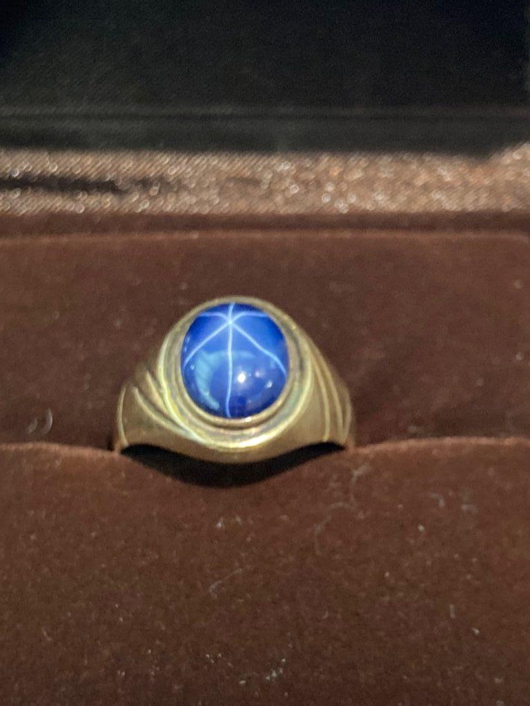 14K サファイアリング 14金指輪