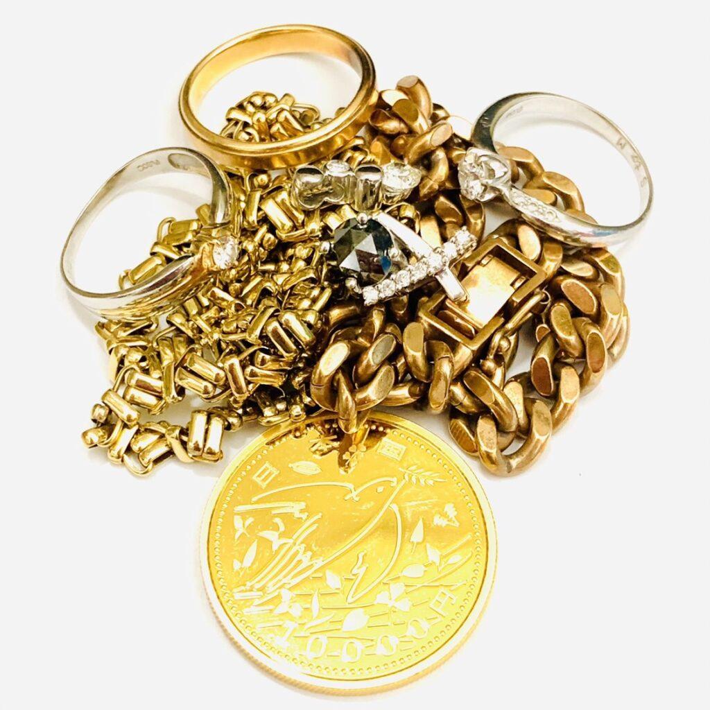 純金コイン ダイヤモンド プラチナリング ゴールドネックレス おまとめ