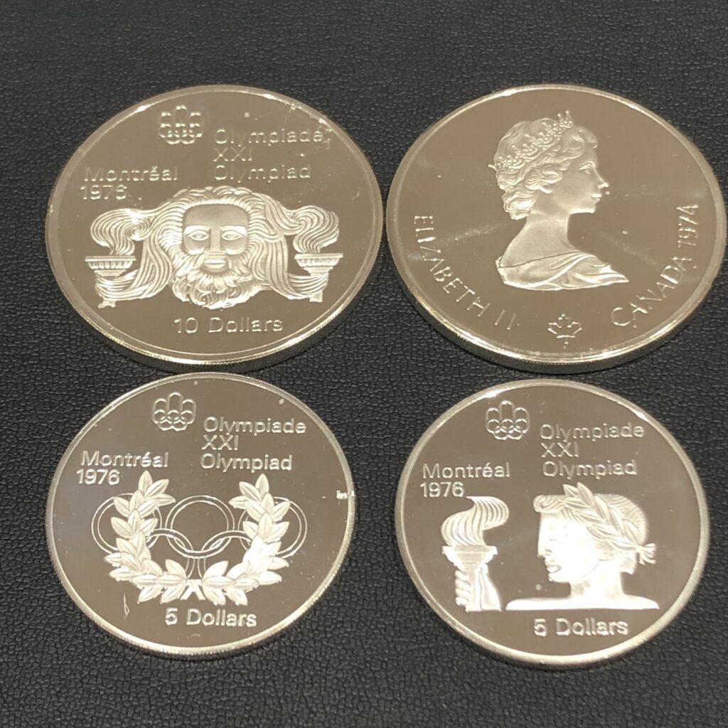 1976年 カナダ モントリオール オリンピック公式記念銀貨 5ドル 10ドル 4枚セット