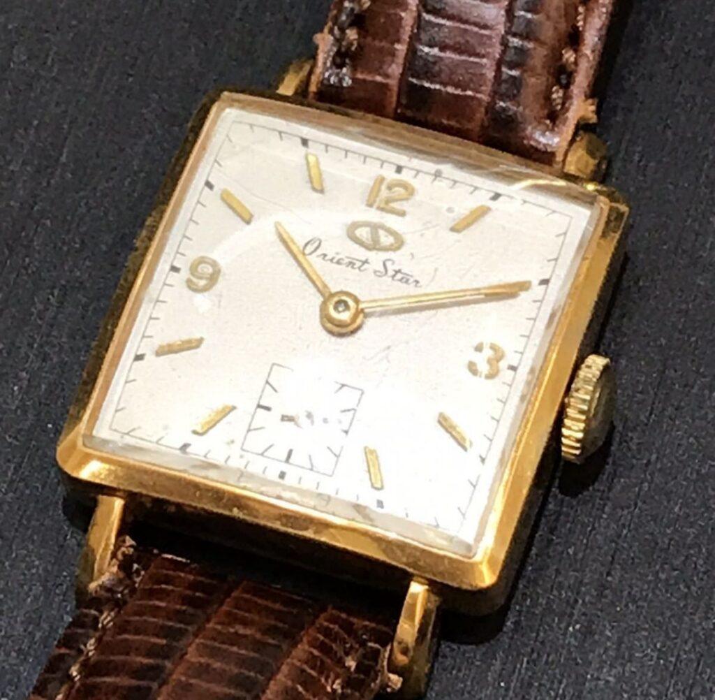 orient star オリエントスター1006 手巻き式 レザーベルト 腕時計 アンティーク